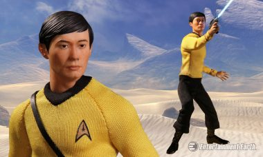 Chief Helmsman of the USS Enterprise Arrives as Collective Action Figure