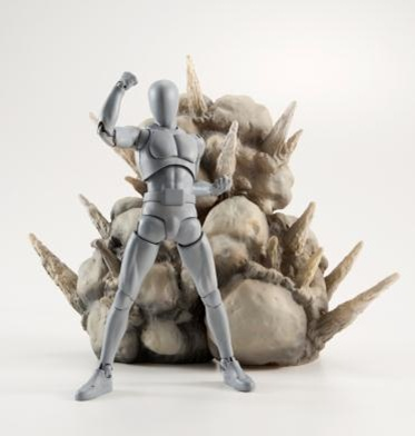 Explosion Gray Version Tamashii Action Figure Effect