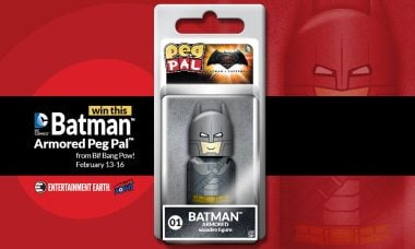 Toy Fair New York Giveaway: Bif Bang Pow! Armored Batman Peg Pal™