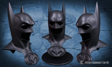 Channel George Clooney's Caped Crusader with Batman and Robin Cowl Replica