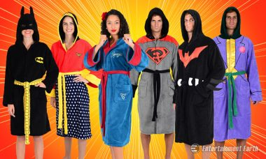 Be Cuddly and Super When You Wear DC Comics Fleece Bathrobes