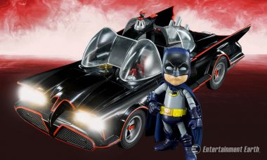 This Classic Batmobile Bumps with Bluetooth Speakers and LED Headlights