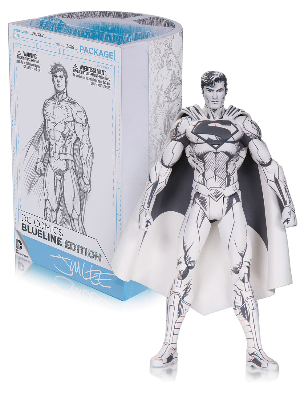 Superman B&W Jim Lee Figure