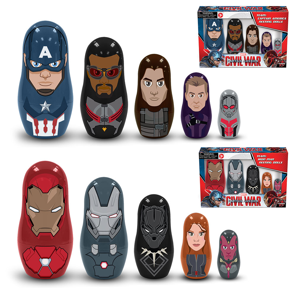 Captain America Civil War Nesting Dolls