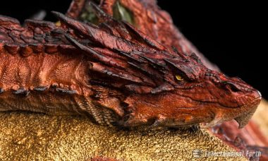 Smaug Is Unleashed as Precious King Under the Mountain Statue