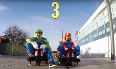 Pranksters Enact a Real Life Mario Kart Race in Middle of London Mall