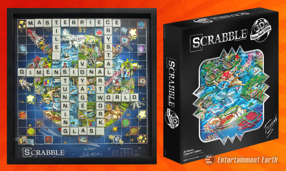 This Charles Fazzino 3D Scrabble Set Is NOT Your Grandma's