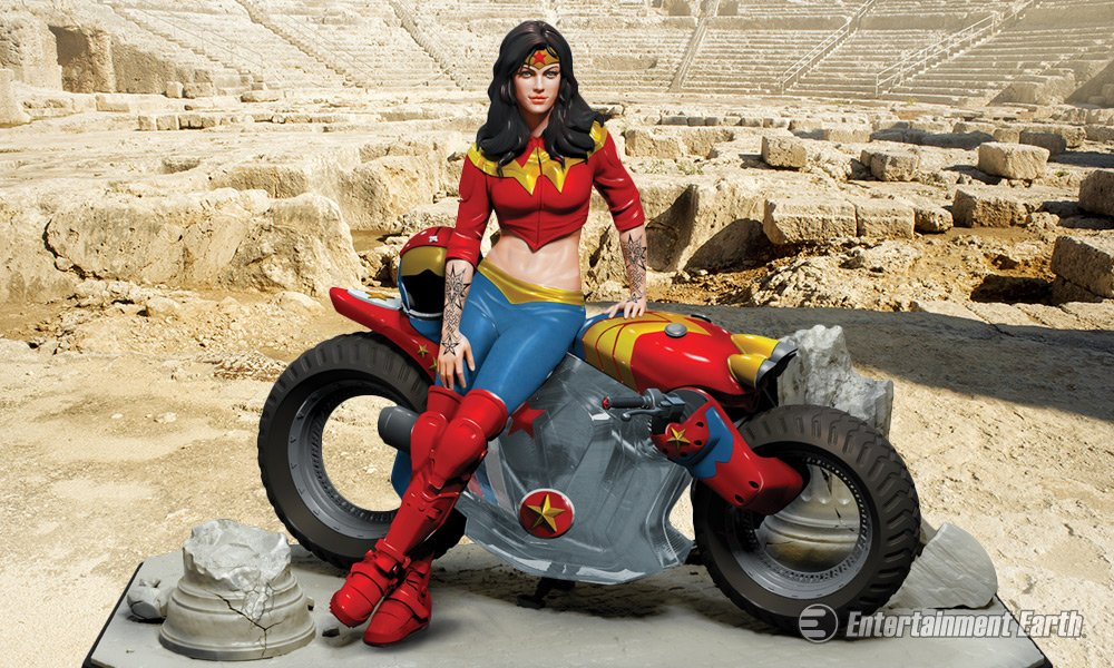 Gotham City Garage Wonder Woman Statue Owns The Sport