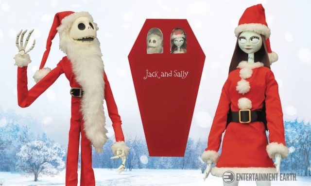 Nightmare Before Christmas Jack Sally Coffin Dolls