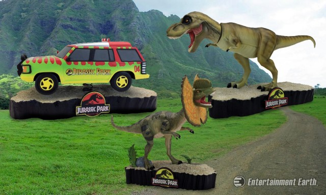 Jurassic Park Motion Statues