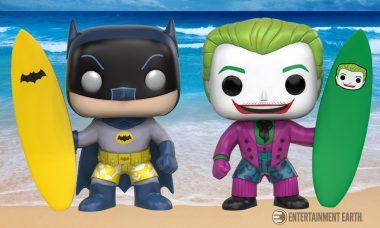 Hang Five with Surf's Up Batman and Joker Pop! Vinyl Figures!