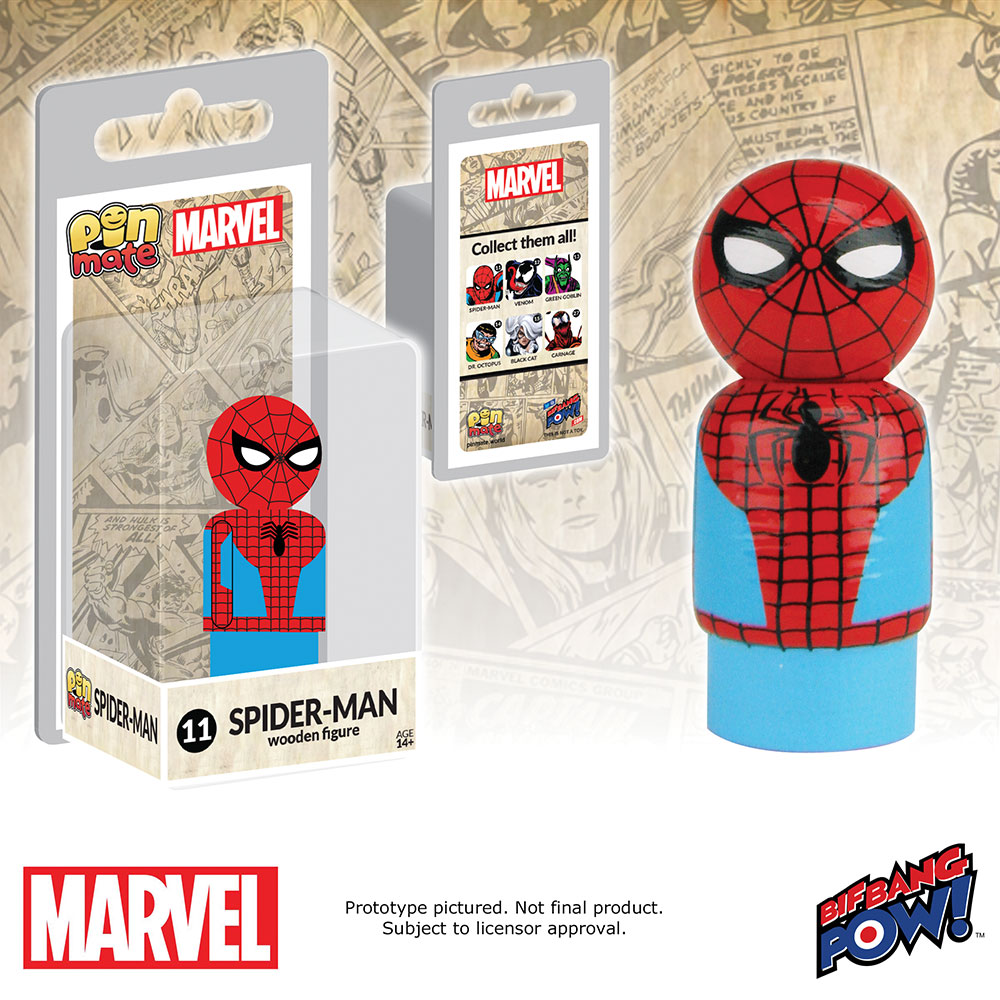 Marvel Spider-Man Pin Mate Wooden Figure
