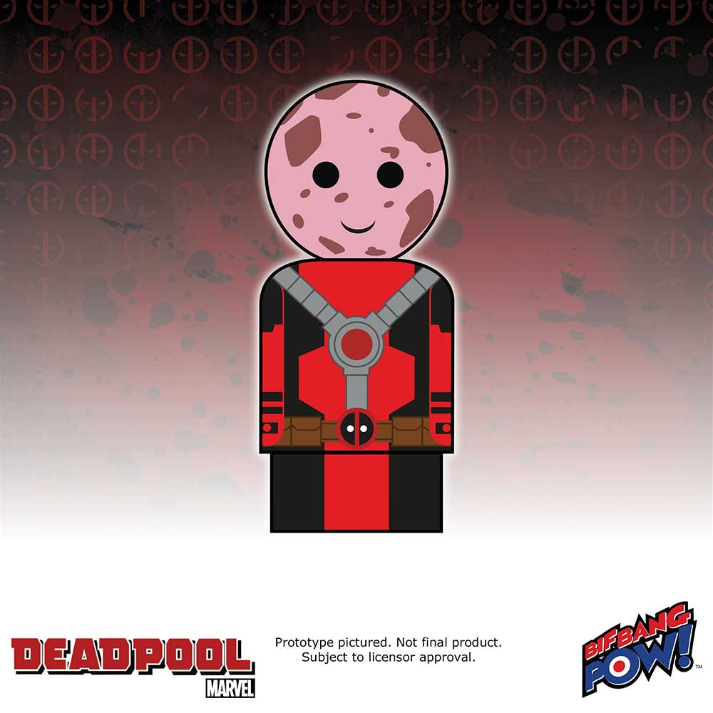 Marvel Deadpool Unmasked Pin Mate Wooden Figure
