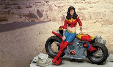 Gotham City Garage Wonder Woman Statue Owns the Sport Biker Look