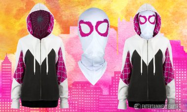 Run from Bad Guys or Just Run Errands with This Spider Gwen Masked Hoodie