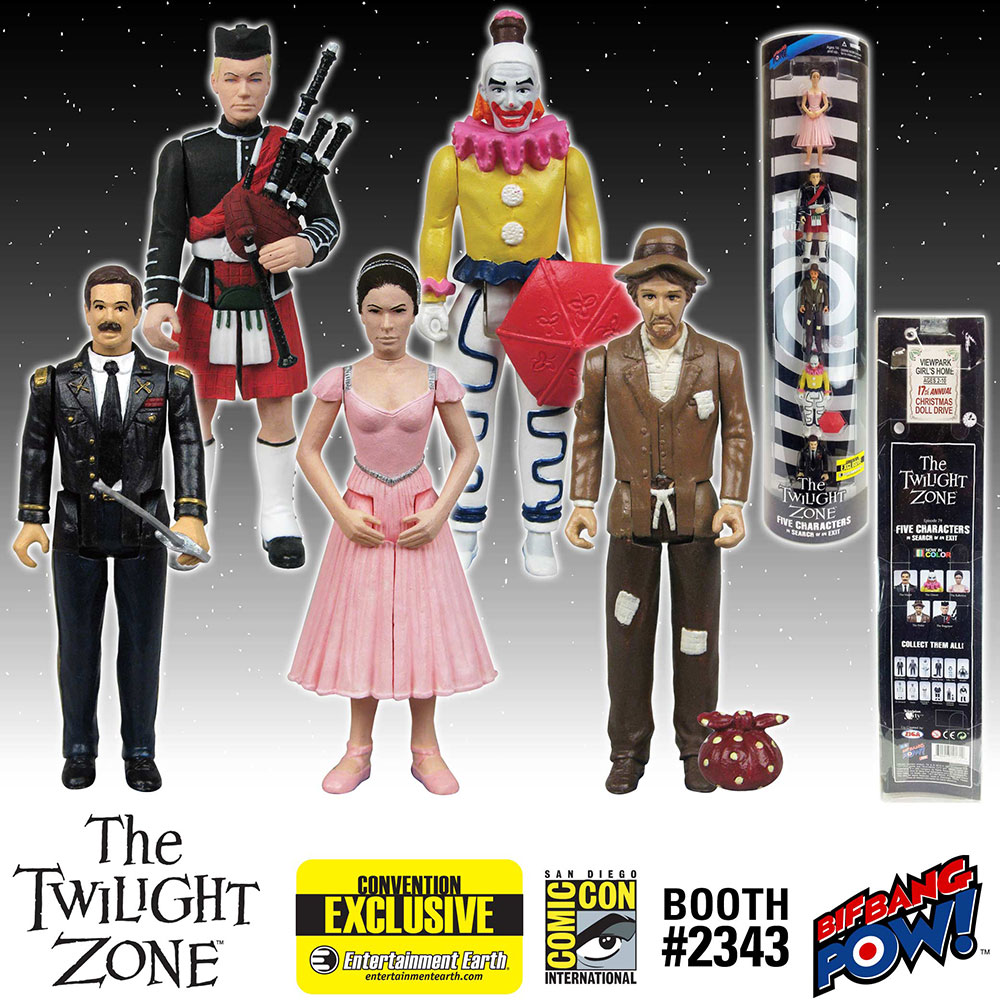 The Twilight Zone Five Characters in Search of an Exit 3 3/4-Inch Action Figures In Color - Convention Exclusive