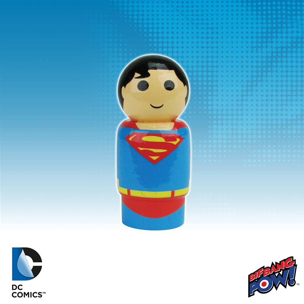 Justice League Superman Pin Mate Wooden Figure