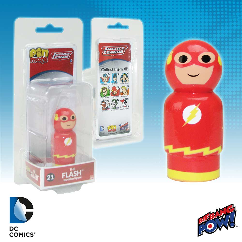 DC Comics Justice League The Flash Pin Mate Wooden Figure