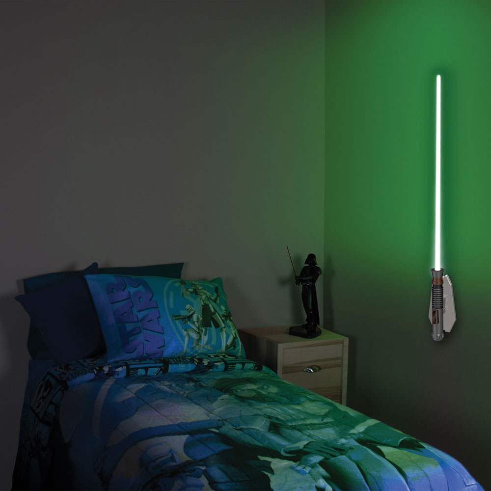 lightsaber lights are a more elegant light fixture for a. Black Bedroom Furniture Sets. Home Design Ideas
