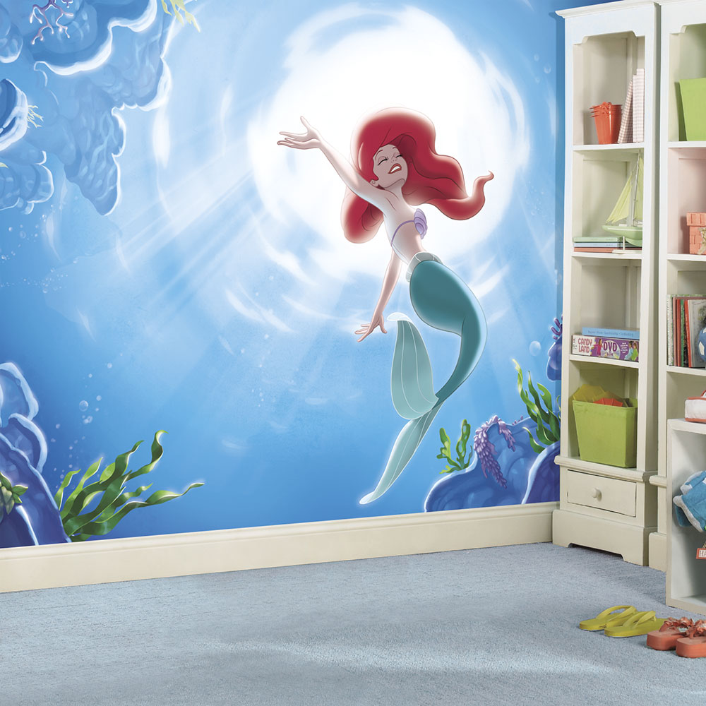 If your home is your castle then these princesses are for Disney princess wall mural tesco