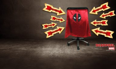 New Entertainment Earth Deadpool Chair Cape™