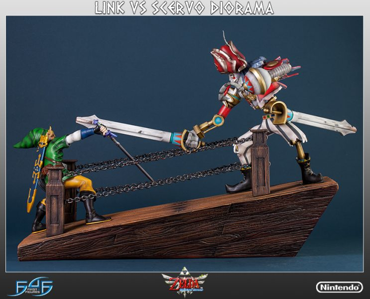 The Legend of Zelda: Skyward Sword Link vs Scervo Diorama Statue