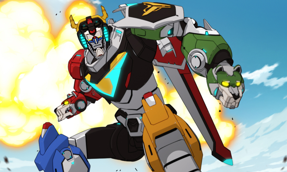 It is an image of Sizzling Images of Voltron
