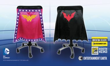 Exclusive WONDER WOMAN™ and BATMAN BEYOND™ Chair Capes!