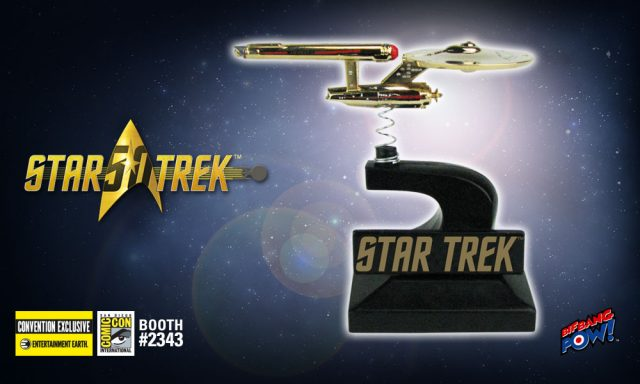 Star Trek: The Original Series Enterprise Monitor Mate Bobble Ship 24K Gold Plated - Convention             </p>