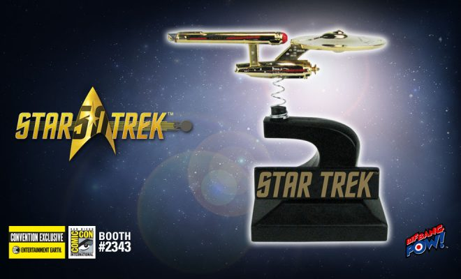 24K Gold-Plated U S S  Enterprise Bobbles to San Diego Comic-Con