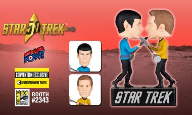 "Captain Kirk and Spock Duel to the Death as Exclusive ""Amok Time"" Bobble Heads"
