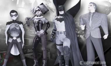 These Black and White Batman Statues Leap Off the Page