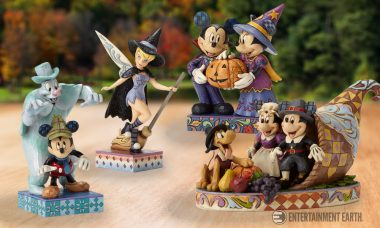 Mickey and Friends Get in the Autumnal Spirit with These Hand-Carved Statues