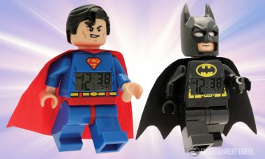 Finally! Keep Gotham and Metropolis Local Times Straight with these Batman and Superman LEGO Clocks!