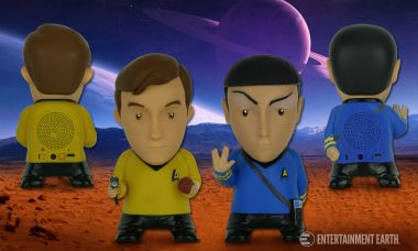 Blast Your Music Through Snazzy Kirk and Spock Bluetooth Speakers