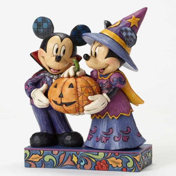 Mickey and Minnie Halloween Hosts Statue