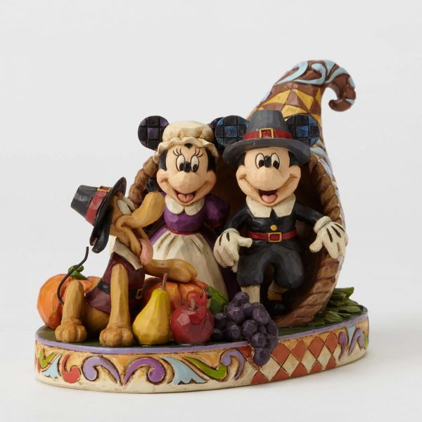 Mickey Mouse Cornucopia Holiday Harvest Statue