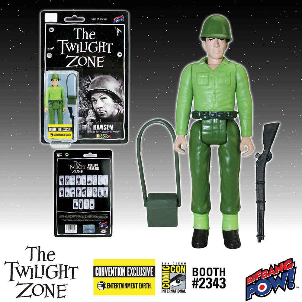 The Twilight Zone Hansen 3 3/4-Inch Action Figure In Color - Convention Exclusive
