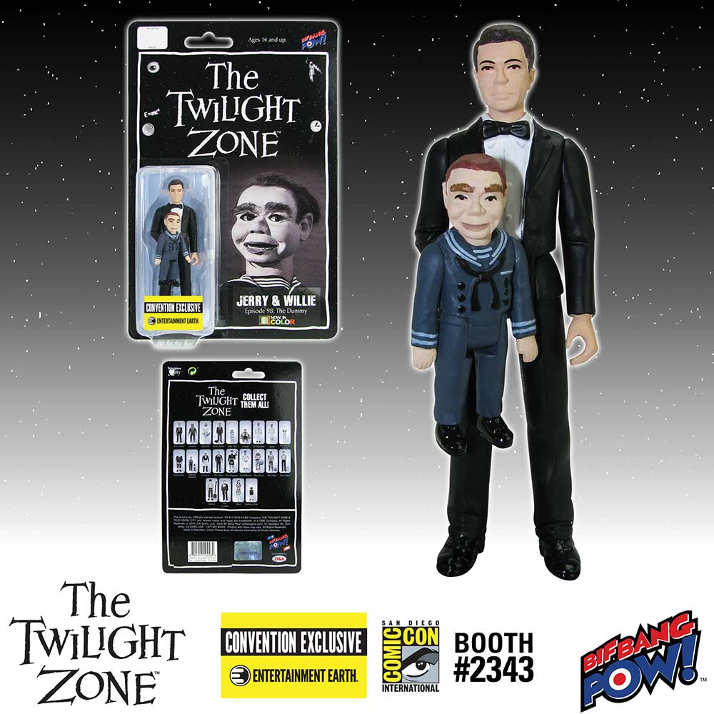 The Twilight Zone Jerry and Willie 3 3/4-Inch Action Figure In Color - Convention Exclusive