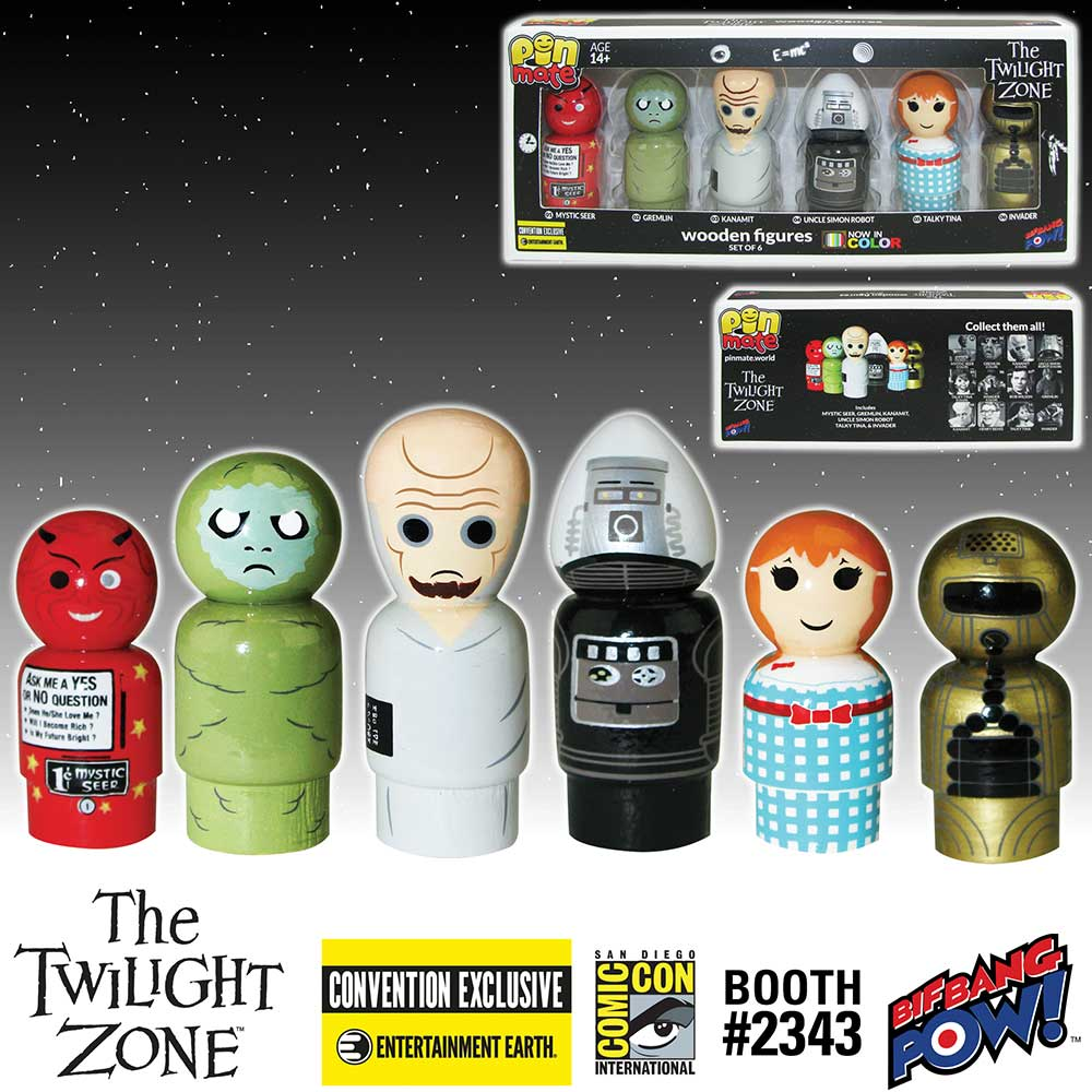 The Twilight Zone Pin Mate Wooden Figure Set of 6 - Convention Exclusive