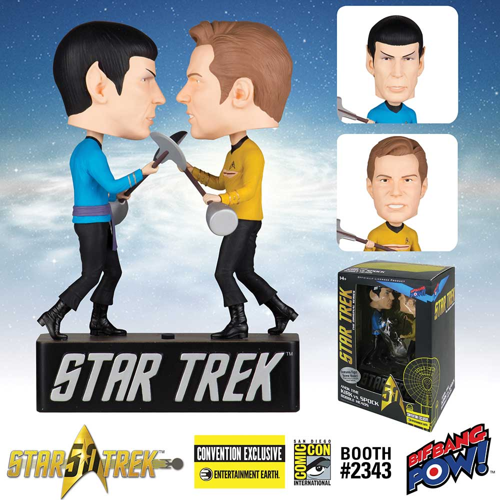 Star Trek: The Original Series Amok Time Kirk vs. Spock Bobble Heads - Convention Exclusive