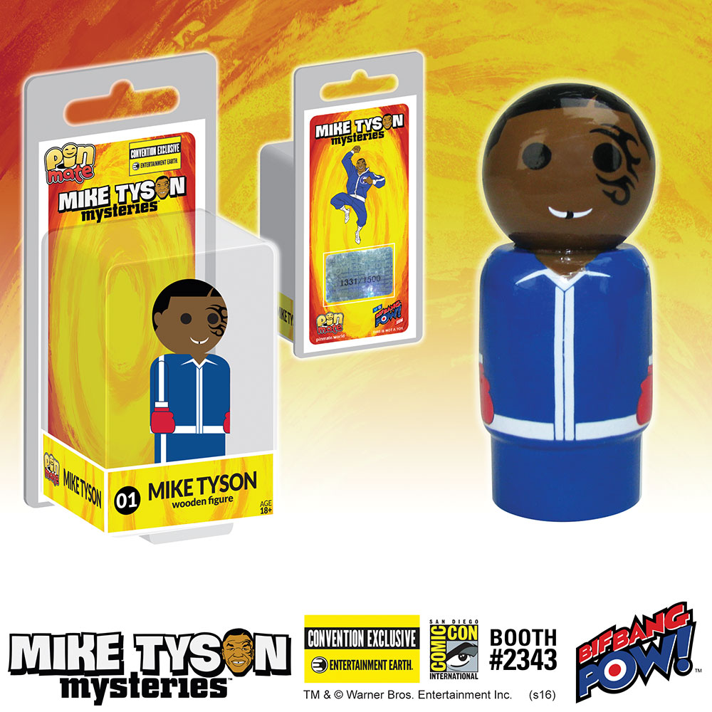 Mike Tyson Mysteries Mike Tyson Pin Mate Wooden Figure - Convention Exclusive