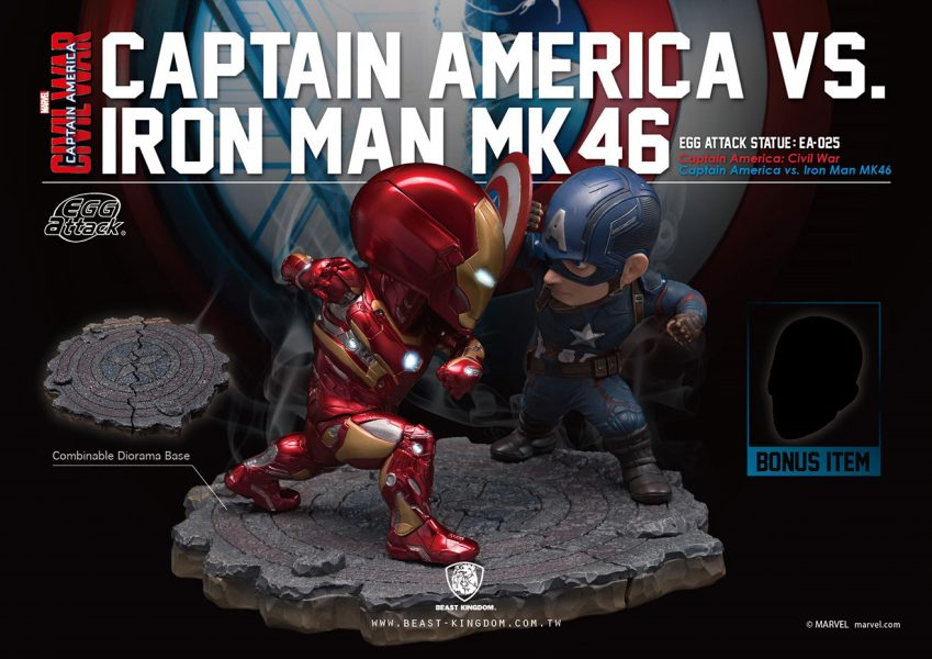 Captain America: Civil War Captain America vs. Iron Man Egg Attack Statue 2-Pack
