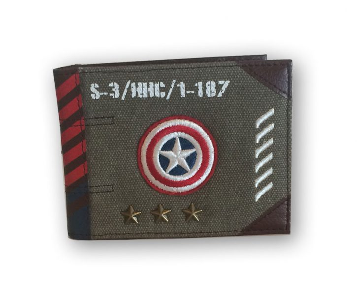 Marvel Captain America Vintage Military Army Bi-Fold Wallet
