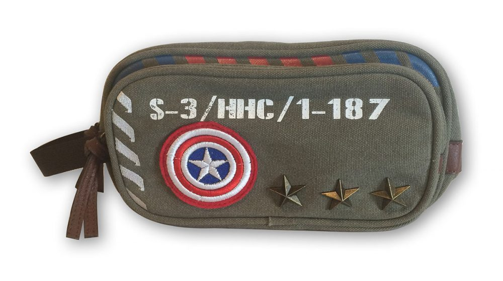 Marvel Captain America Vintage Military Army Toiletry Bathroom Bag