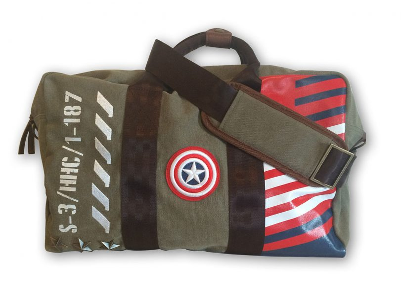 Marvel Captain America Vintage Military Army Duffle Bag