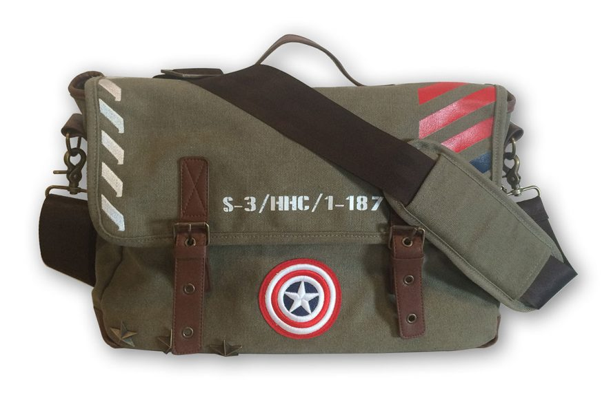 Marvel Captain America Vintage Military Army Messenger Bag