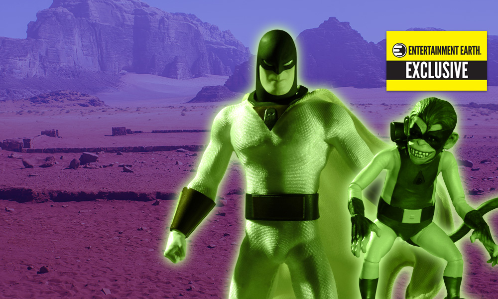 Space Ghost Glow-in-the-Dark 1:12 Collective Action Figure - Entertainment Earth Exclusive