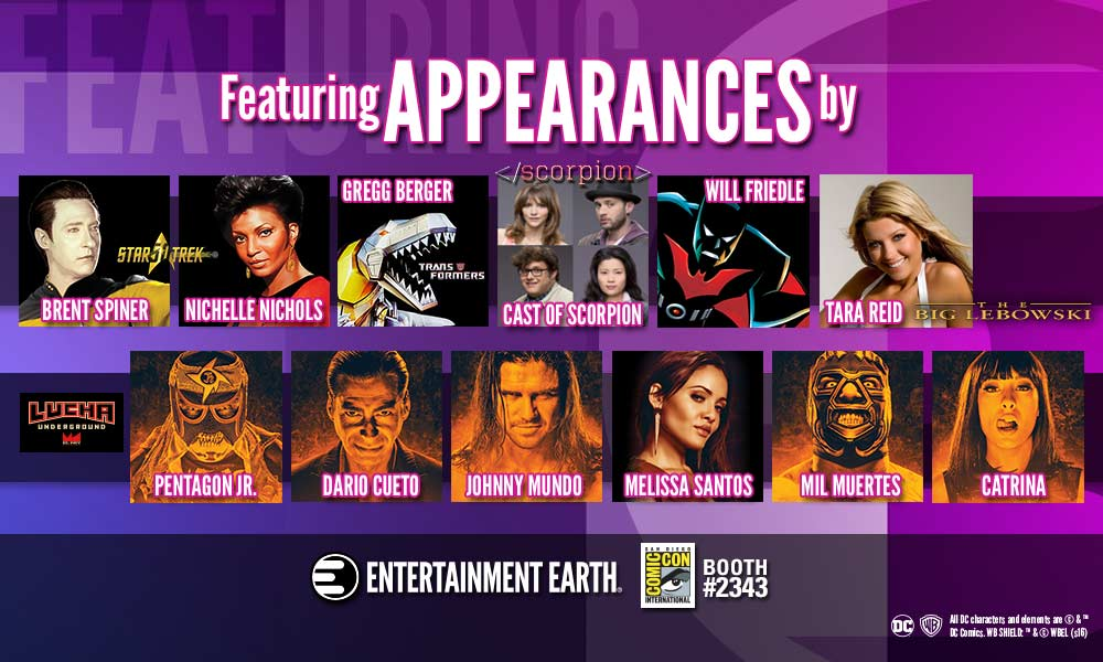 Entertainment Earth Reveals Free Celebrity Signings at San