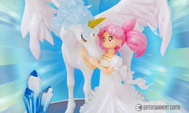 Chibi-Usa and Helios Meet in a Dream in New Chouette Statue
